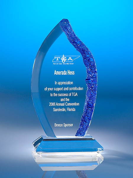 Crystalized Flame Acrylic Award