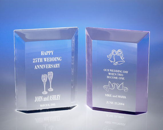 Medium Rectangle Acrylic Award