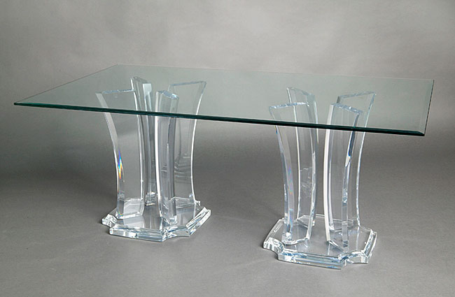 Milano Double Base Acrylic Table