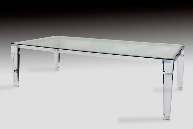 Venetian Acrylic Dining Table