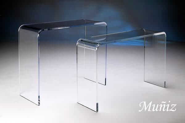 Acrylic Waterfall Tables