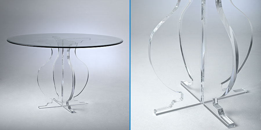 athena acrylic dining table