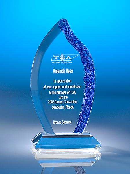 Crystalized Flame Acrylic Award