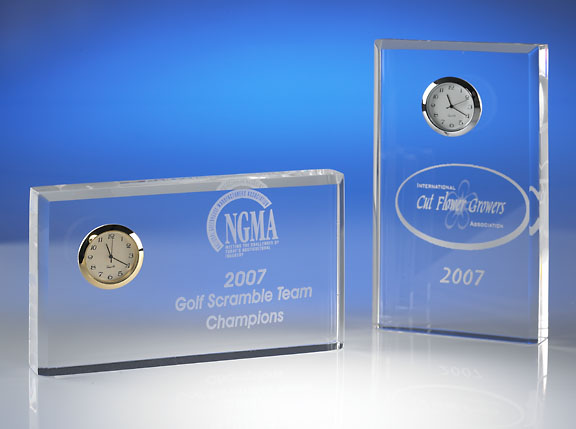 Free Standing Clock Acrylic Award