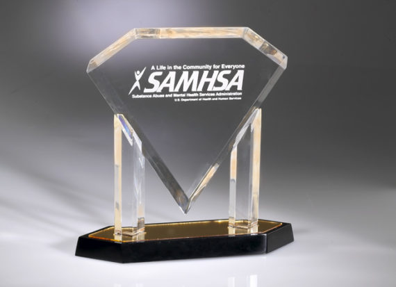 Floating Diamond Acrylic Award