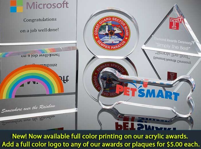 Full color logo Acrylic-awards