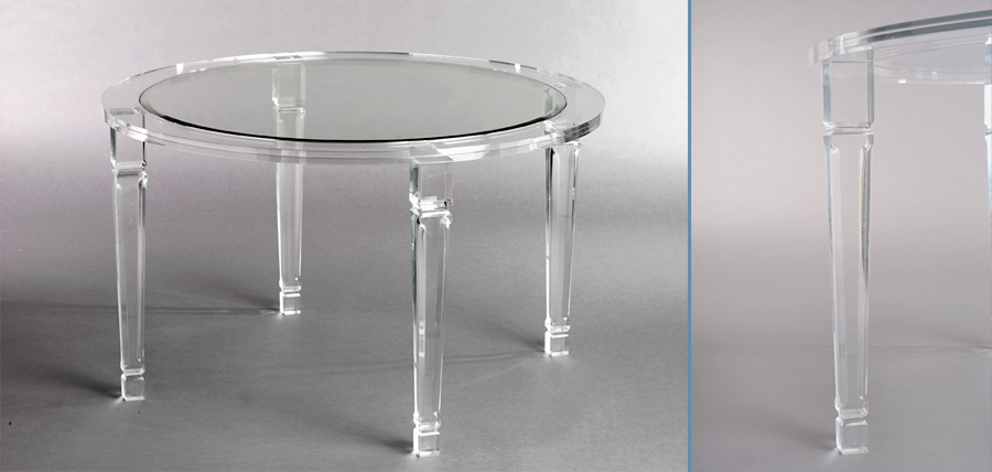 Philipe Round Acrylic Dining U2013 Acrylic Furniture, Tables, Chairs U2013 Hand  Made By Muniz Plastics