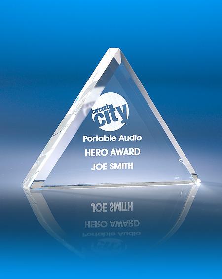 Pyramid Acrylic Award