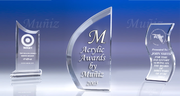 Acrylic Awards by Muniz