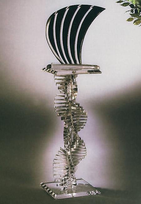 Luna Sculpture / Spiral Pedestal