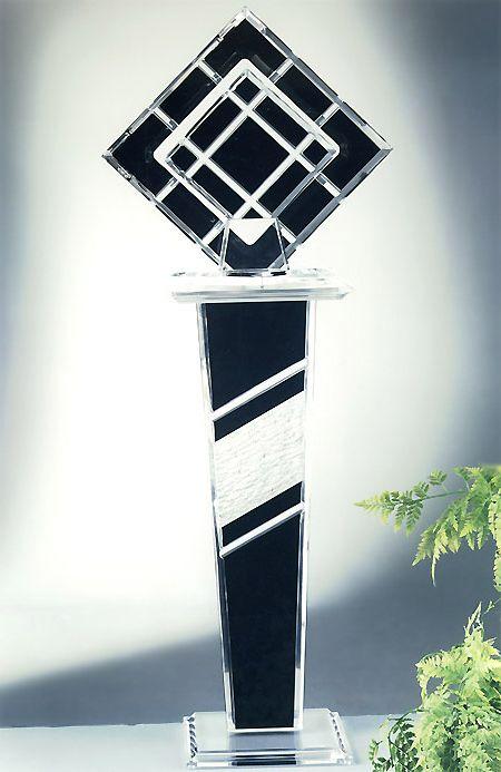 Destiny Acrylic Sculpture / Rio Acrylic Pedestal