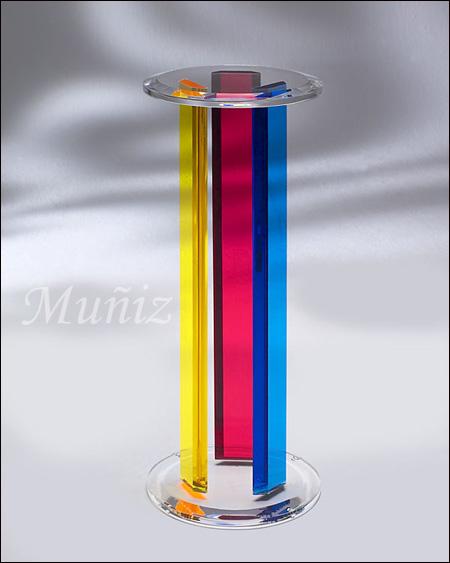 Rainbow Acrylic Pedestal