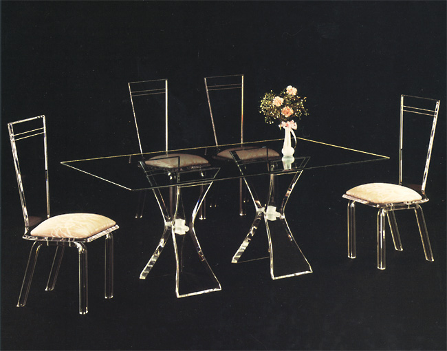 Acrylic Dining Set Twin Butterfly