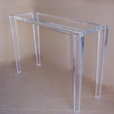 Acrylic console tables muniz the fine line of acrylic for Plexiglas tisch design