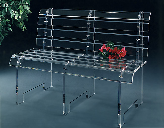 Acrylic Bus Bench 48″ Wide