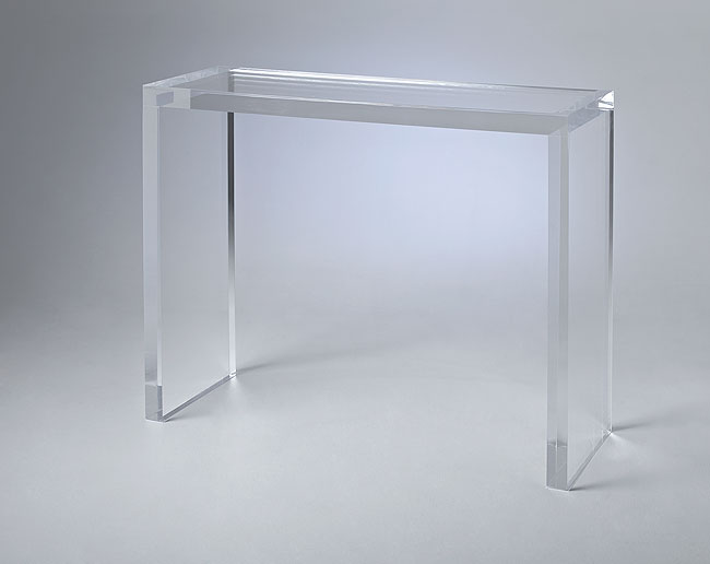 Matthew Acrylic console Table