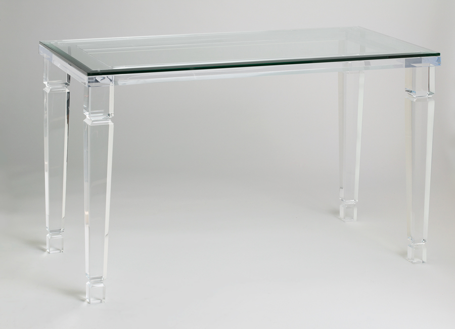 acrylic console tables muniz the fine line of acrylic. Black Bedroom Furniture Sets. Home Design Ideas