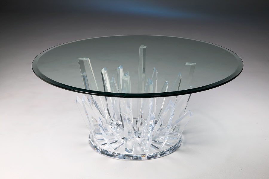 StarBurst Acrylic Cocktail Table