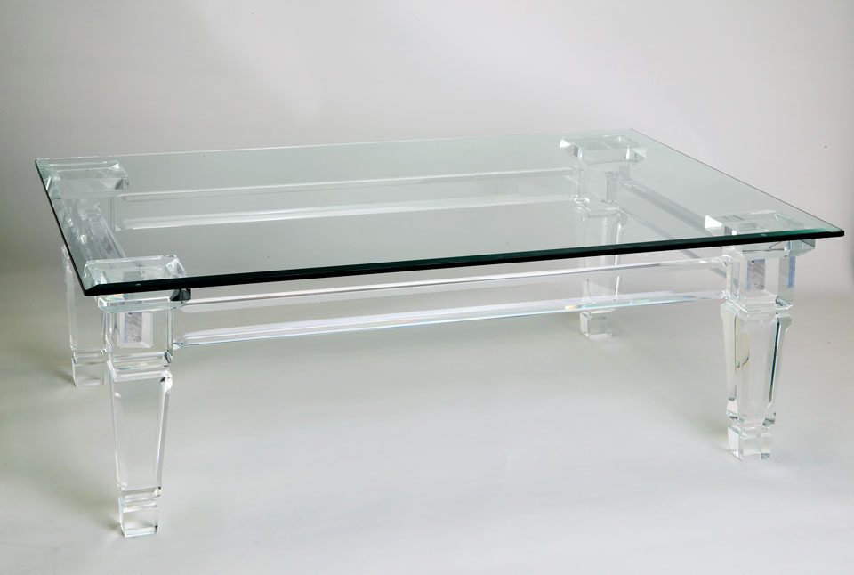 Acrylic cocktail tables calypso acrylic cocktail table for Used acrylic coffee table