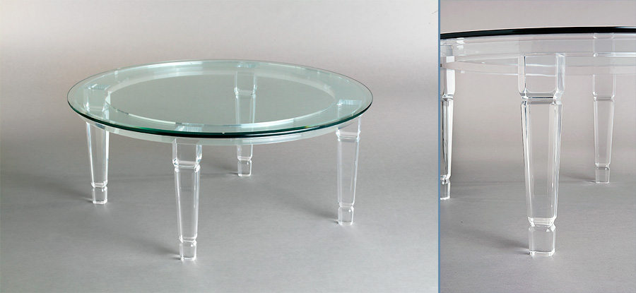 Venetian Round Acrylic Cocktail Table
