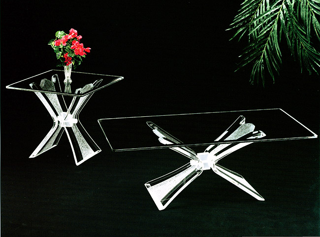 Crystallized Acrylic End / Cocktail Table