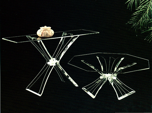 Flower Acrylic Console / Cocktail Table