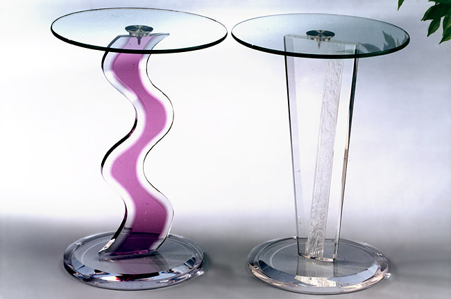 Occasional Table Violet and Clear