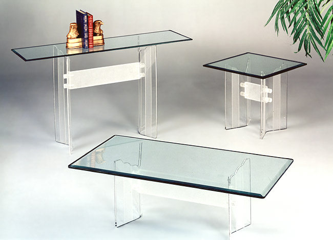 Scallop Series Acrylic Tables