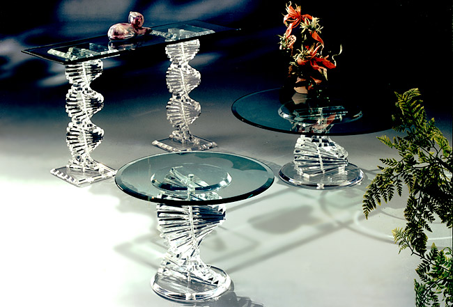 Spiral Series Acrylic TAbles