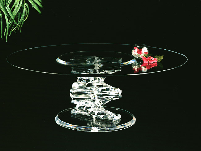 Spiral Round Cocktail Table